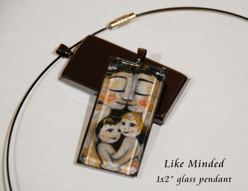 Like Minded, glass pendant by Katie m. Berggren - just $24 in the online Studio Shop