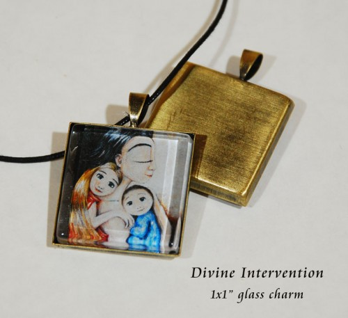 Divine Intervention, glass charm by Katie m. Berggren