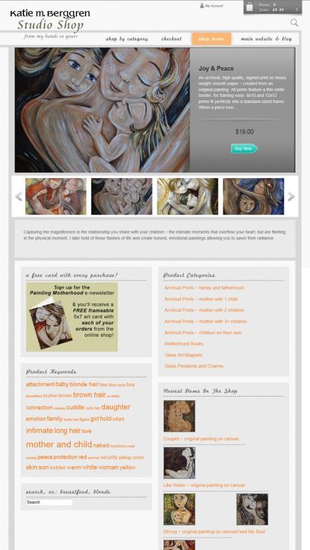 Katie m. Berggren online Studio Shop - now open!