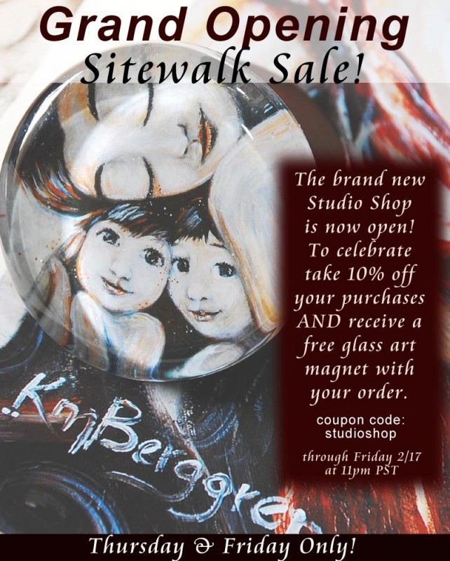 10% off Sale plus free glass art magnet