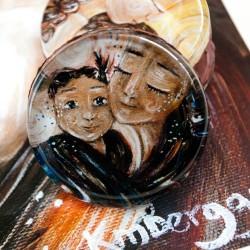 Katie m. Berggren glass art magnet