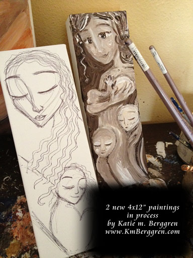 2 mini paintings to be released at the Virtual Art Opening on July 9 ~ 4-5pm PST