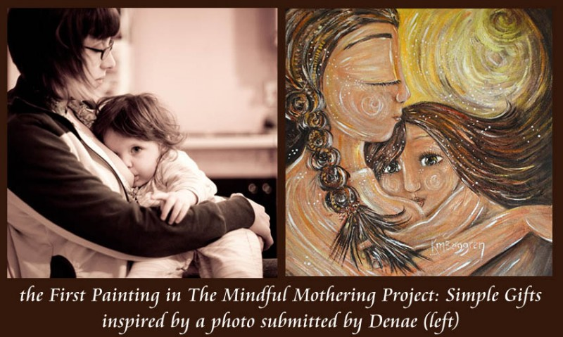 Mindful Mothering Project Painting #1 by Katie m. Berggren