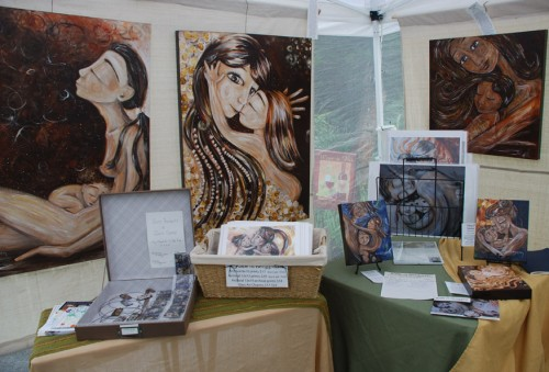 Katie m. Berggren's Display at Confluence Winery July 2011