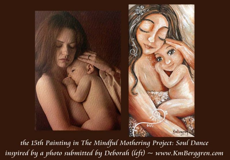 The Mindful Mothering Project, Painting #15, Soul Dance by Katie m. Berggren