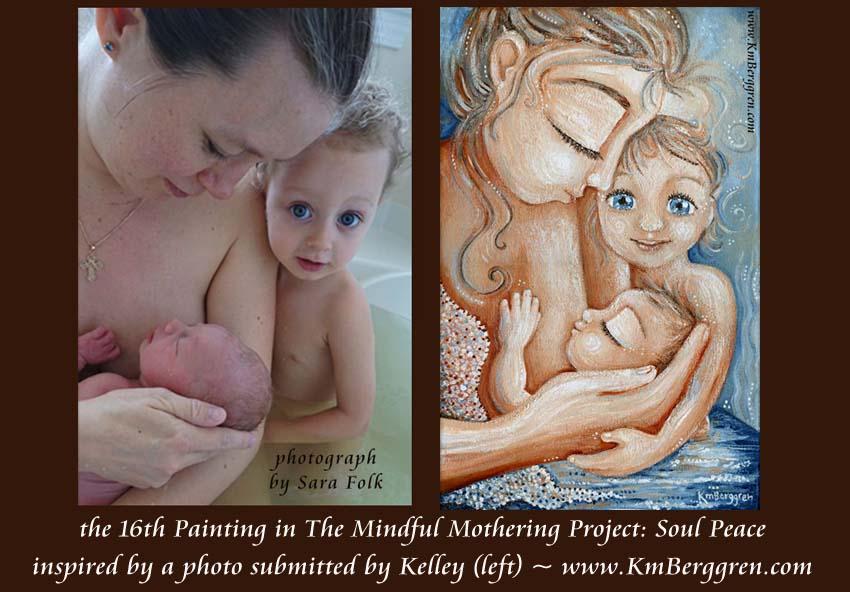 Mindful Mothering Project painting #16 by Katie m. Berggren www.KmBerggren.com