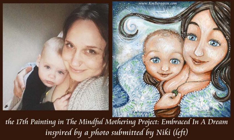 Mindful Mothering Project painting #17 by Katie m. Berggren, Shop.KmBerggren.com