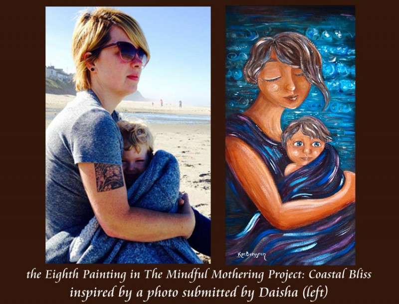 Coastal Bliss, the 8th Mindful Mothering Project Painting by Katie m. Berggren