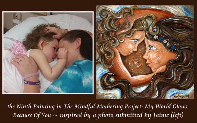 The 9th Mindful Mothering Project painting ~ My World Glows…
