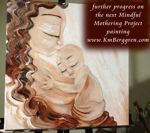 Katie m. Berggren painting in progress