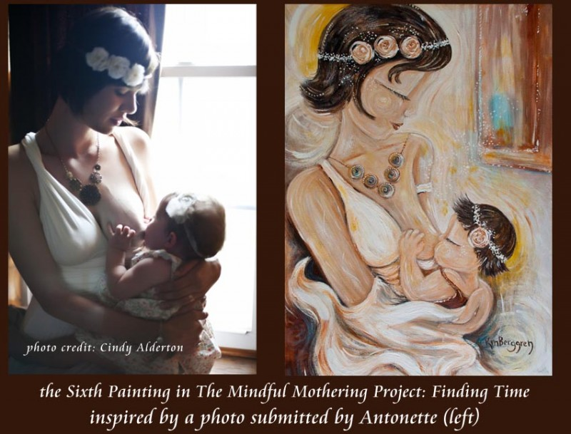 Mindful Mothering Project Painting #6 by Katie m. Berggren