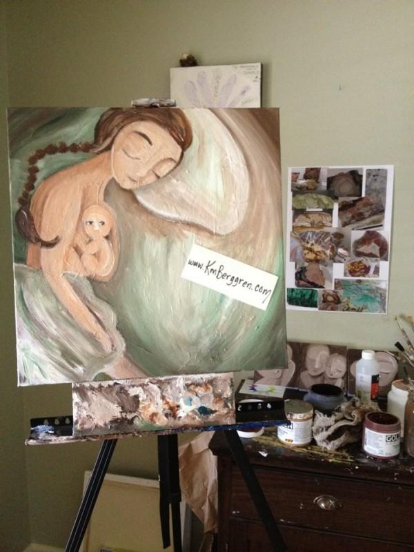 Beyond in progress by Katie m. Berggren