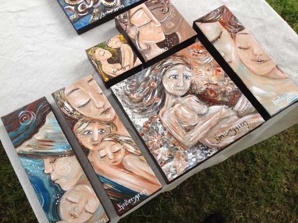 mini paintings available at the 2012 English Estate Winery Event