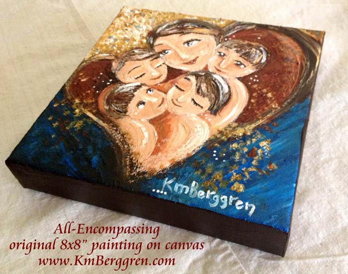 "All-Encompassing, brand new original 8x8"" painting by Katie m. Berggren"