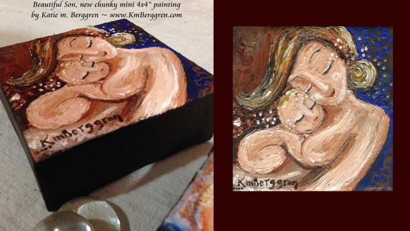 Beautiful Son original mini painting by Katie m. Berggren