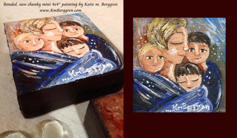 Bonded new mini original painting by Katie m. Berggren