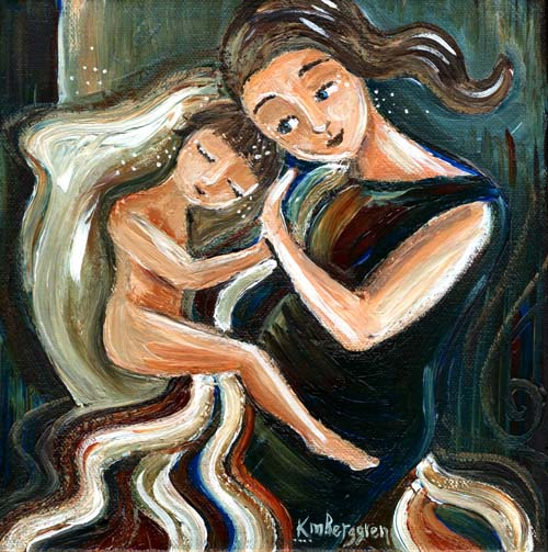 Take A Moment: DeCluttering… and a New Mini Cosleeping Painting