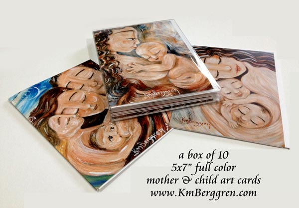 Boxed Set of 10 KmBerggren Mother & Child Art Cards
