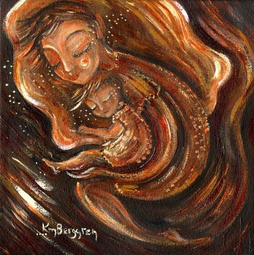 "Honey, original 10x10"" painting by Katie m. Berggren"