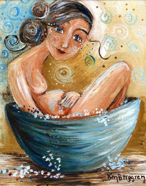 "Taking Good Care, original 8x10"" painting by Katie m. Berggren"