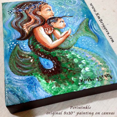 "Periwinkle, original 8x10"" painting by Katie m. Berggren"