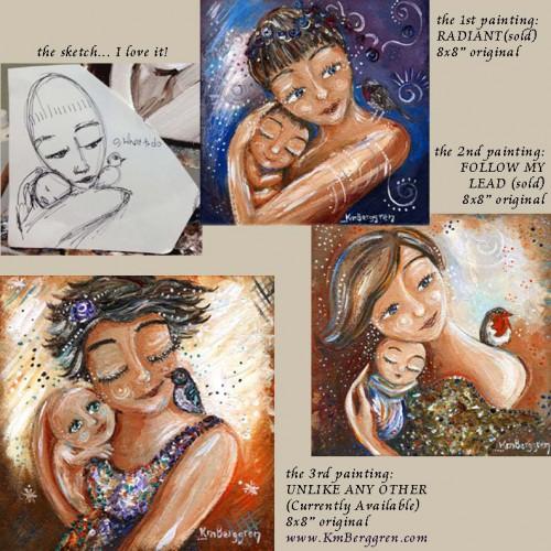 Three Paintings by Katie m. Berggren