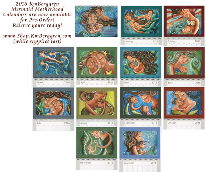 2016 Mermaid Calendars from Katie m. Berggren