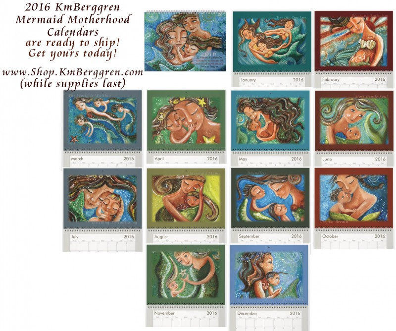2016 Mermaid Calendar