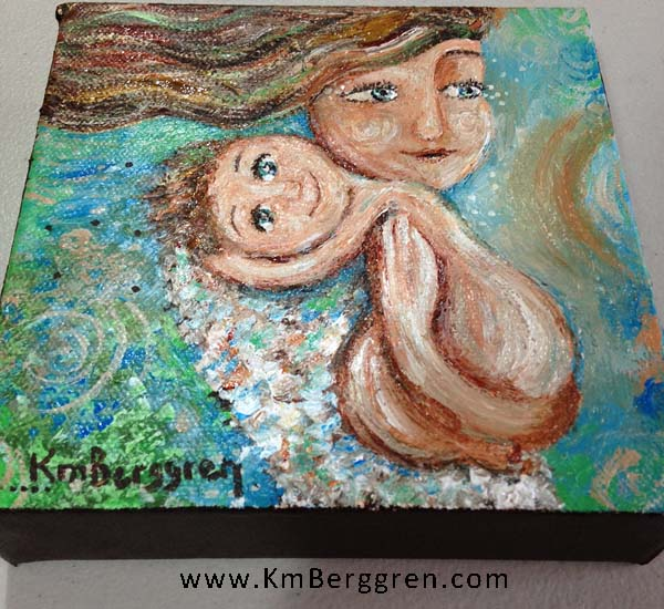 Holding Onto A Dream, original mini painting by Katie m. Berggren