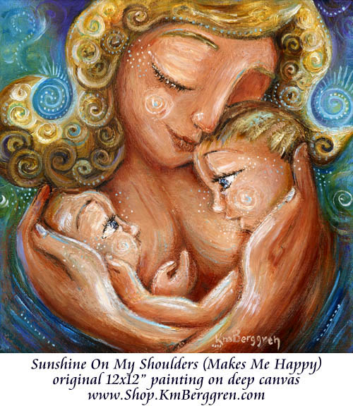 New Tandem Breastfeeding Painting ~ Mindful Mothering Project donation update