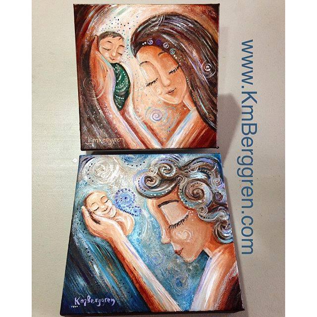 2 new mini original paintings by Katie m. Berggren