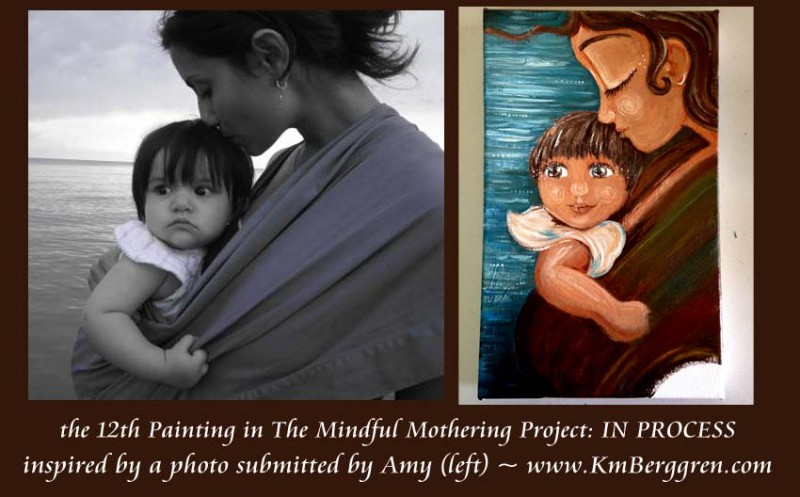 Mindful Mothering Project painting, Timeless Adoration, by Katie m. Berggren