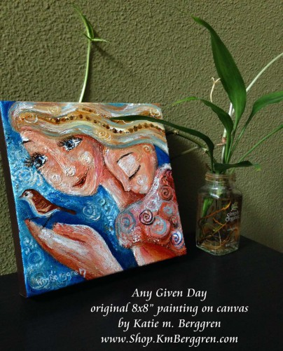"""Any Given Day-available original 8x8"""" painting by Katie m. Berggren"""