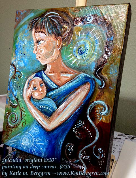 "splendid - available original 8x8"" painting by Katie m. Berggren"