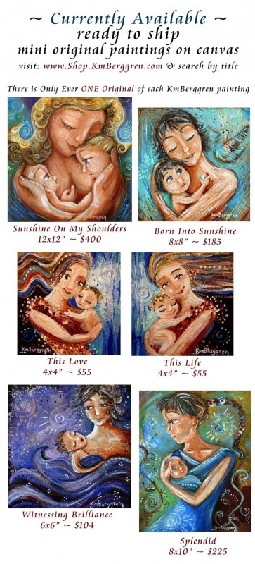 Currently Available Minis by Katie m. Berggren, www.shop.KmBerggren.com