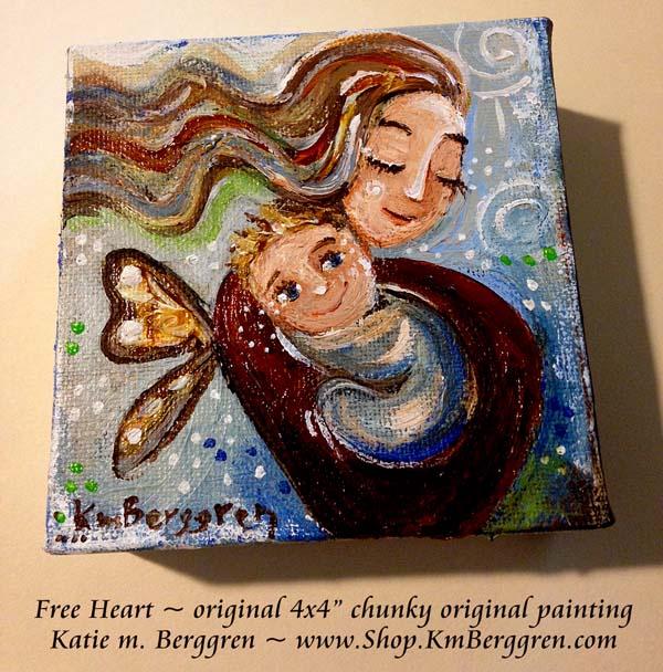 Free Heart by Katie m. Berggren, www.Shop.KmBerggren.com