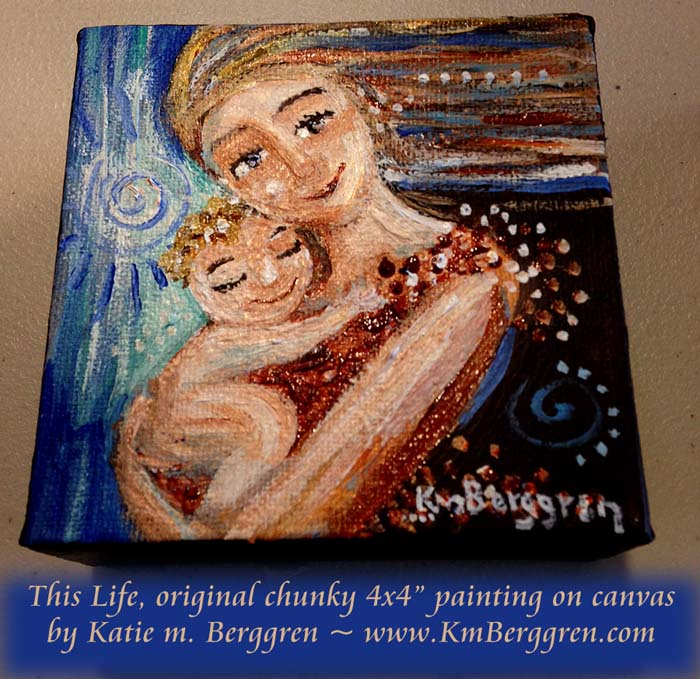 "This Life, available original 4x4"" painting by Katie m. Berggren"
