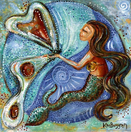 Divine Universe, a new Mermaid & Butterfly painting