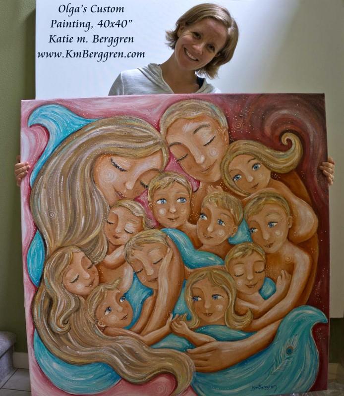 Custom Original Painting by Katie m. Berggren