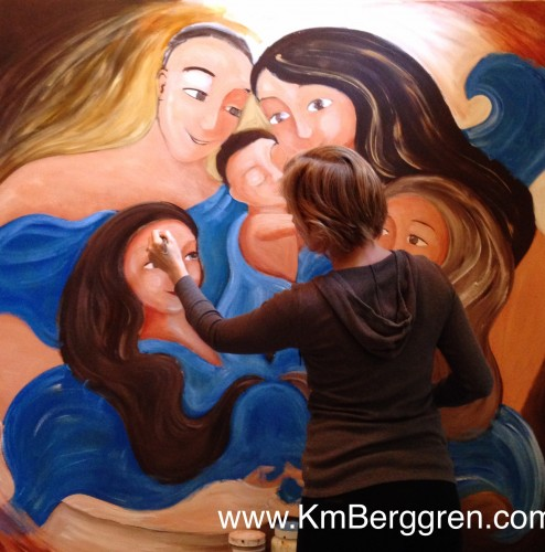 painting, Katie m. Berggren