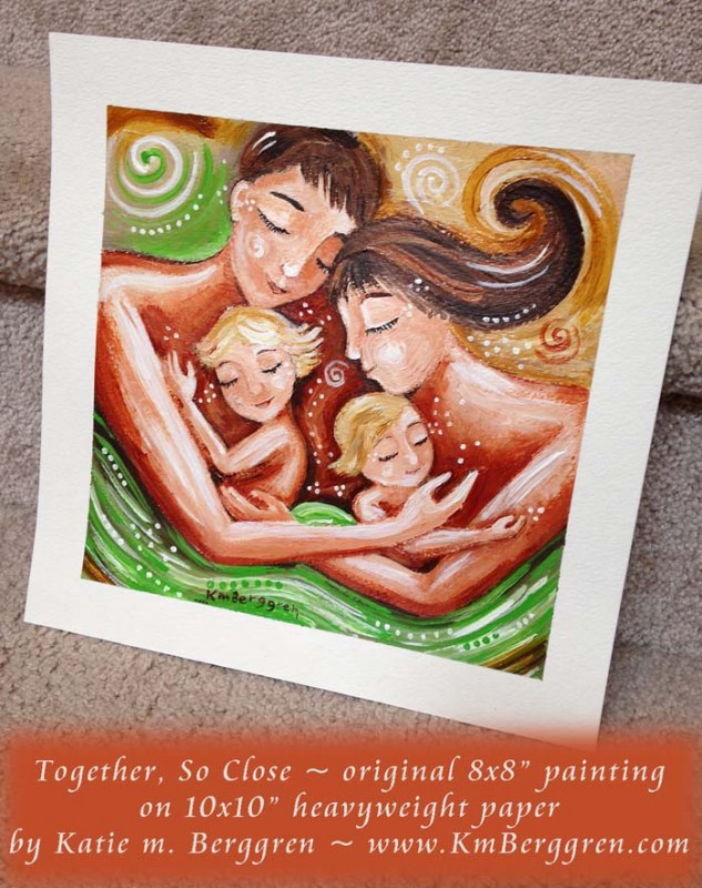 together so close brand new original painting by Katie m. Berggren, www.Shop.KmBerggren.com