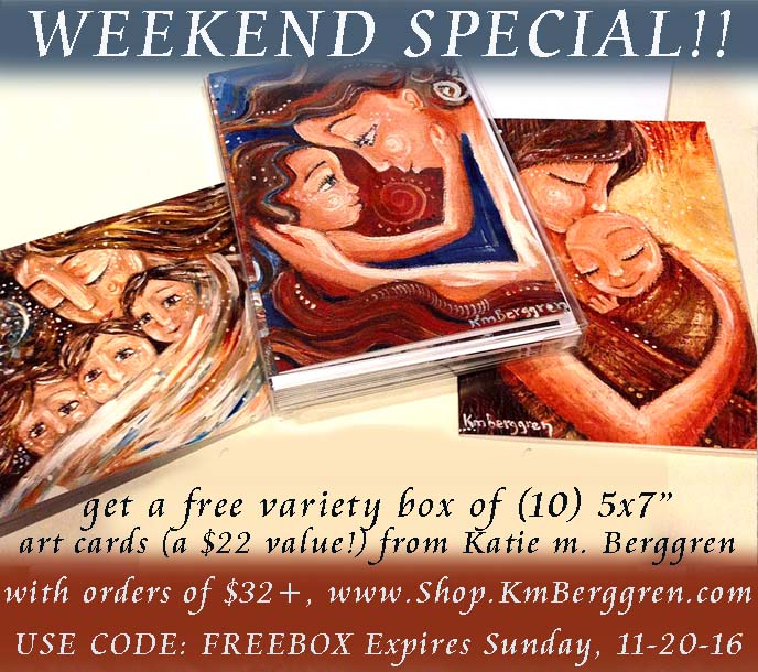 weekend special - free box of cards with any order of $32+ www.Shop.KmBerggren.com