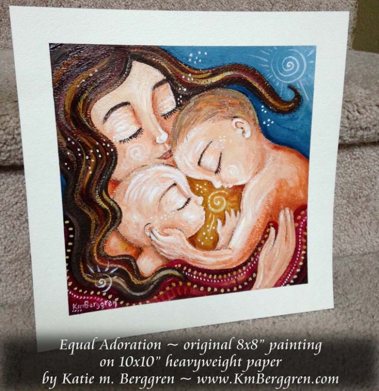 New Mini Paintings & the Mindful Mothering Project