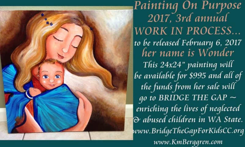 Painting On Purpose - painting in process by Katie m. Berggren