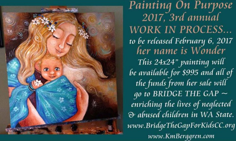Painting On Purpose, Wonder, painting in process by Katie m. Berggren