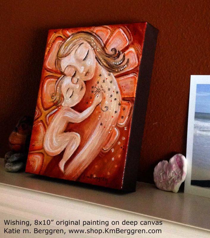 """Wishing, brand new 8x10"""" painting by Katie m. Berggren"""