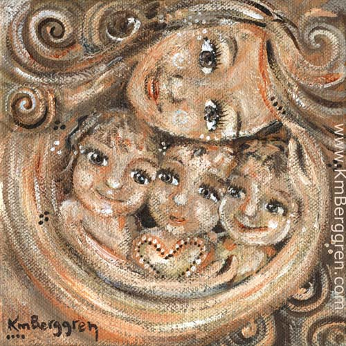 Compassion ~ a brand new painting by Katie m. Berggren