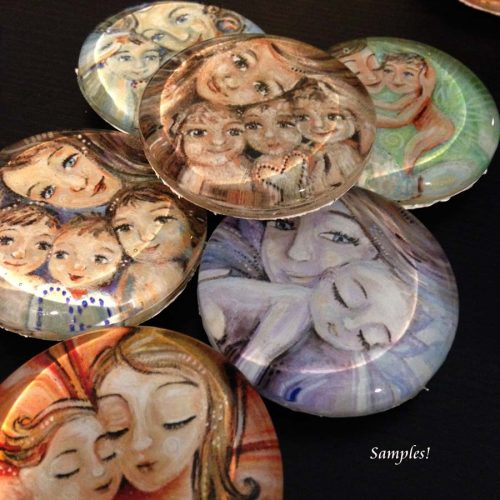 Glass Art Magnets by Katie m. Berggren