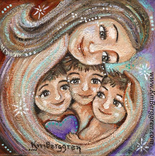 "Trust In Kindness ~ brand new 6x6"" original painting on deep canvas by Katie m. Berggren"