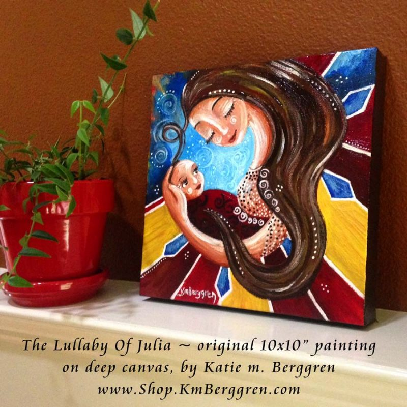 The Lullaby Of Julia - original painting by Katie m. Berggren